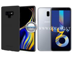 Mercury Soft Feeling dėklas nugarėlė Samsung Galaxy J6+ (2018) telefonui juodos spalvos