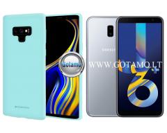 Mercury Soft Feeling dėklas nugarėlė Samsung Galaxy J6+ (2018) telefonui mėtinės spalvos