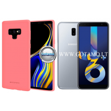 Mercury Soft Feeling dėklas nugarėlė Samsung Galaxy J6+ (2018) telefonui rožinės spalvos