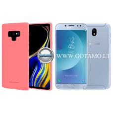 Mercury Soft Feeling dėklas nugarėlė Samsung Galaxy J7 (2017) telefonui rožinės spalvos Šiauliai | Palanga | Kaunas