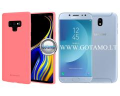 Mercury Soft Feeling dėklas nugarėlė Samsung Galaxy J7 (2017) telefonui rožinės spalvos