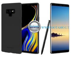 Mercury Soft Feeling dėklas nugarėlė Samsung Galaxy Note 8 telefonui juodos spalvos