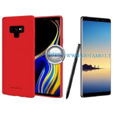 Mercury Soft Feeling dėklas nugarėlė Samsung Galaxy Note 8 telefonui raudonos spalvos