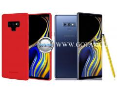 Mercury Soft Feeling dėklas nugarėlė Samsung Galaxy Note 9 telefonui raudonos spalvos