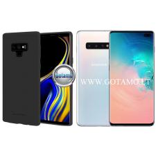 Mercury Soft Feeling dėklas nugarėlė Samsung Galaxy S10+ telefonui juodos spalvos