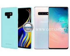 Mercury Soft Feeling dėklas nugarėlė Samsung Galaxy S10+ telefonui mėtinės spalvos