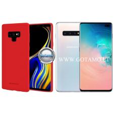Mercury Soft Feeling dėklas nugarėlė Samsung Galaxy S10+ telefonui raudonos spalvos