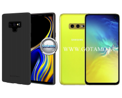 Mercury Soft Feeling dėklas nugarėlė Samsung Galaxy S10e telefonui juodos spalvos
