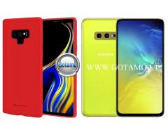 Mercury Soft Feeling dėklas nugarėlė Samsung Galaxy S10e telefonui raudonos spalvos