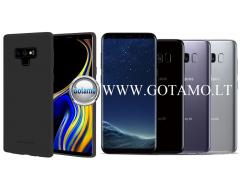 Mercury Soft Feeling dėklas nugarėlė Samsung Galaxy S8 telefonui juodos spalvos