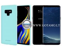 Mercury Soft Feeling dėklas nugarėlė Samsung Galaxy S8+ telefonui mėtinės spalvos