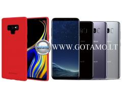 Mercury Soft Feeling dėklas nugarėlė Samsung Galaxy S8 telefonui raudonos spalvos