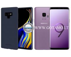 Mercury Soft Feeling dėklas nugarėlė Samsung Galaxy S9 telefonui tamsiai mėlynos spalvos