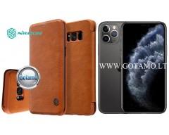 Nillkin Qin odinis dėklas Apple iPhone 11 Pro telefonui rudos spalvos