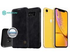 Nillkin Qin odinis dėklas Apple iPhone XR telefonams juodos spalvos