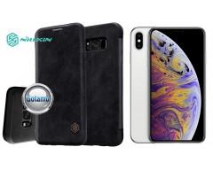 Nillkin Qin odinis dėklas Apple iPhone Xs Max telefonams juodos spalvos