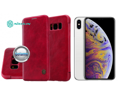 Nillkin Qin odinis dėklas Apple iPhone Xs Max telefonams raudonos spalvos