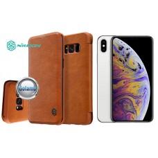 Nillkin Qin odinis dėklas Apple iPhone Xs Max telefonams rudos spalvos Palanga | Klaipėda | Vilnius