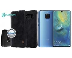 Nillkin Qin odinis dėklas Huawei Mate 20 telefonams juodos spalvos