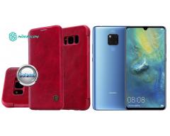 Nillkin Qin odinis dėklas Huawei Mate 20 telefonams raudonos spalvos
