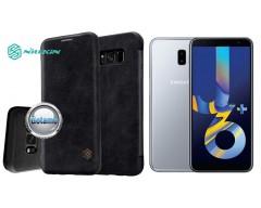 Nillkin Qin odinis dėklas Samsung Galaxy J6+ (2018) telefonams juodos spalvos