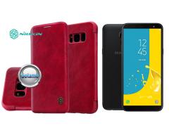 Nillkin Qin odinis dėklas Samsung Galaxy J6 (2018) telefonams raudonos spalvos