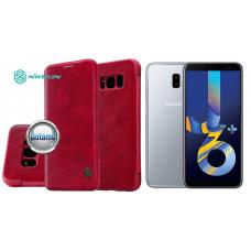 Nillkin Qin odinis dėklas Samsung Galaxy J6+ (2018) telefonams raudonos spalvos