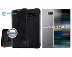Nillkin Qin odinis dėklas Sony Xperia 10 Plus Sony Xperia XA3 Ultra telefonams juodos spalvos