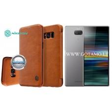 Nillkin Qin odinis dėklas Sony Xperia 10 Plus Sony Xperia XA3 Ultra telefonams rudos spalvos Telšiai | Palanga | Telšiai