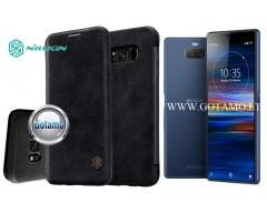 Nillkin Qin odinis dėklas Sony Xperia 10 Sony Xperia XA3 telefonams juodos spalvos
