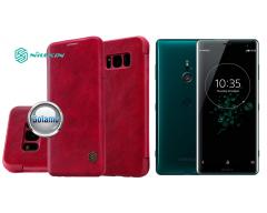 Nillkin Qin odinis dėklas Sony Xperia XZ3 telefonams raudonos spalvos