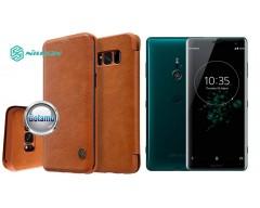 Nillkin Qin odinis dėklas Sony Xperia XZ3 telefonams rudos spalvos