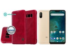 Nillkin Qin odinis dėklas Xiaomi Mi A2 Lite, Xiaomi Redmi 6 Pro telefonams raudonos spalvos