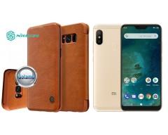 Nillkin Qin odinis dėklas Xiaomi Mi A2 Lite, Xiaomi Redmi 6 Pro telefonams rudos spalvos