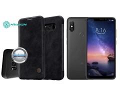 Nillkin Qin odinis dėklas Xiaomi Redmi Note 6 Pro telefonams juodos spalvos