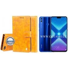 Odyssey dėklas Huawei Honor 8X telefonams garstyčių spalvos