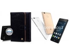 Odyssey dėklas Huawei P9 Lite telefonams juodos spalvos