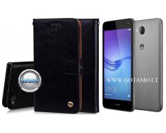 Odyssey dėklas Huawei Y5 (2017) Huawei Y6 (2017) telefonams juodos spalvos
