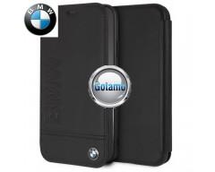 Originalus BMW dėklas knygelė Signature Apple iPhone XR telefonams juodos spalvos