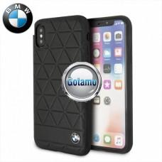 Originalus BMW dėklas nugarėlė Haxagon Apple iPhone X Xs telefonams juodos spalvos