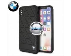 Originalus BMW dėklas nugarėlė Haxagon Apple iPhone Xs Max telefonams juodos spalvos