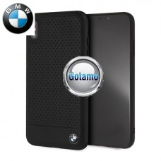 Originalus BMW dėklas nugarėlė Perforated Leather Apple iPhone Xs Max telefonams juodos spalvos