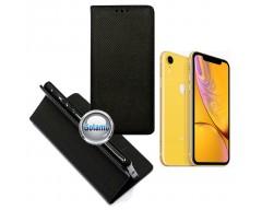 Re-Grid magnetinis dėklas Apple iPhone XR telefonams juodos spalvos