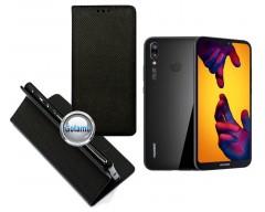 Re-Grid magnetinis dėklas Huawei P20 Lite telefonams juodos spalvos