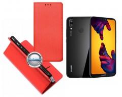 Re-Grid magnetinis dėklas Huawei P20 Lite telefonams raudonos spalvos