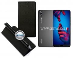 Re-Grid magnetinis dėklas Huawei P20 telefonams juodos spalvos