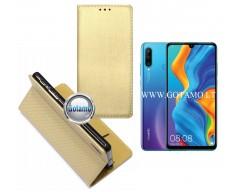 Re-Grid magnetinis dėklas Huawei P30 Lite mobiliesiems telefonams aukso spalvos