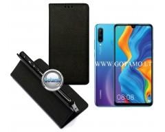 Re-Grid magnetinis dėklas Huawei P30 Lite mobiliesiems telefonams juodos spalvos