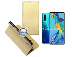 Re-Grid magnetinis dėklas Huawei P30 telefonams aukso spalvos
