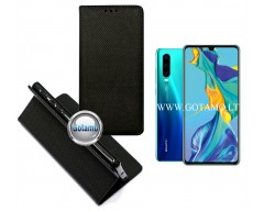 Re-Grid magnetinis dėklas Huawei P30 telefonams juodos spalvos